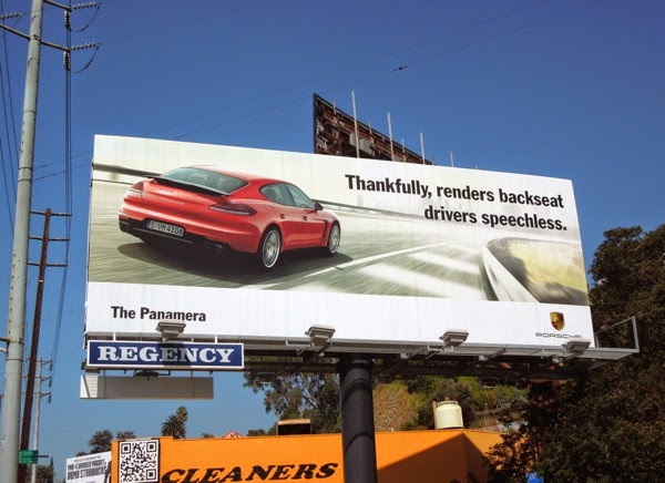 Porsche Panamera renders backseat drivers speechless billboard