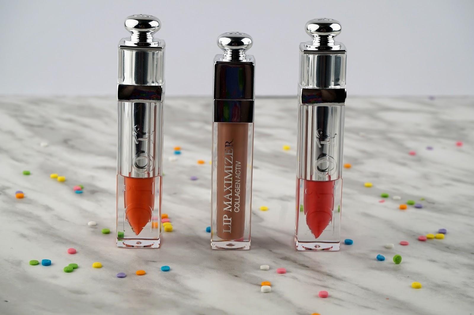 Dior Addict Milky Tint Milky Pop Milky Peach Lip Maximizer Beige Sunrise Review Swatches