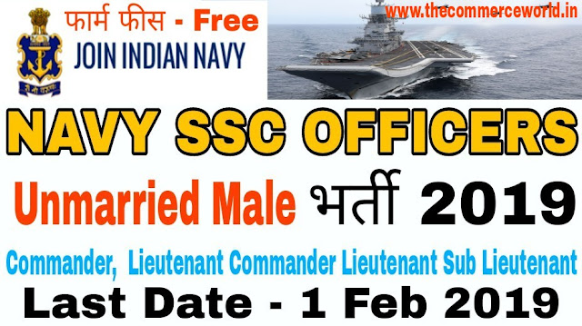 Indian navy SSC Officer Recruitment Online Form 2019