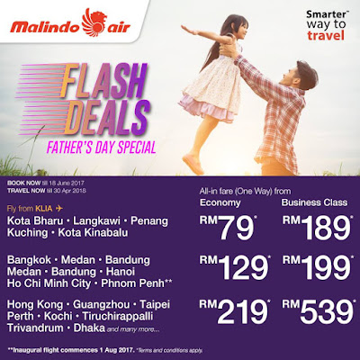 Malindo Air Ticket Father's Day Flash Deals