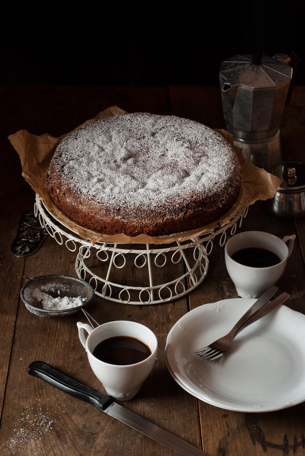 Włoskie ciasto cytrynowe Torta Paradiso