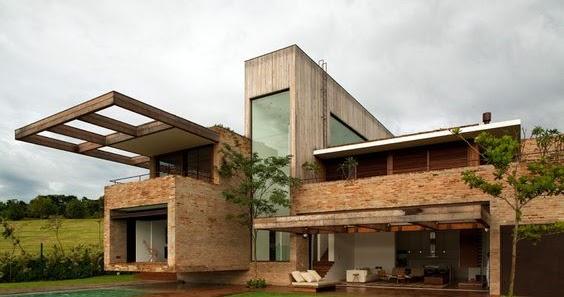 Dise os de casas modernas en ladrillo licencias de for Casa moderna bogota