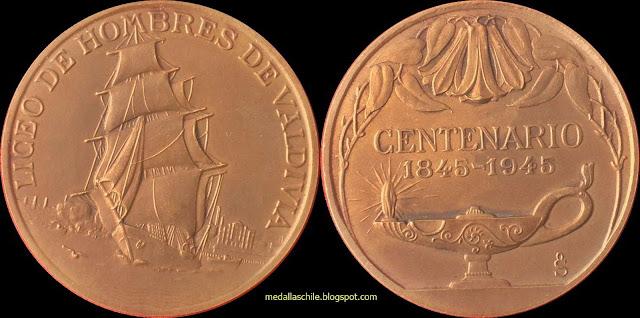 Medalla Liceo de Hombres de Valdivia