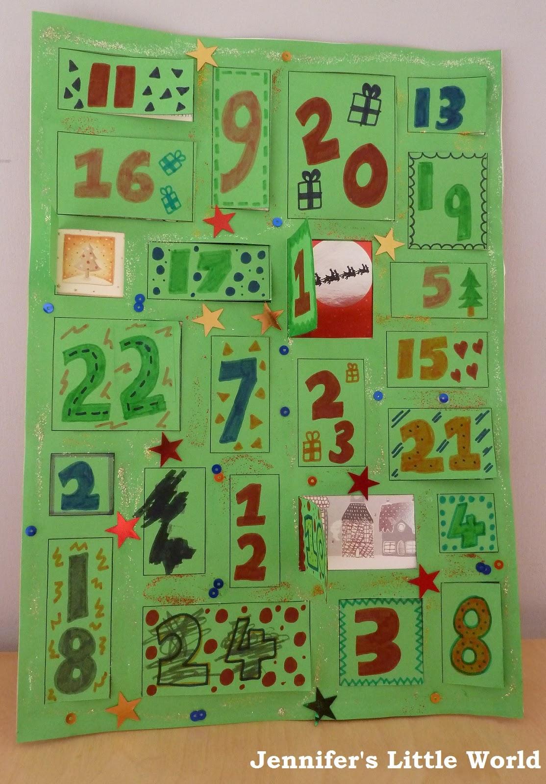 Kids Homemade Calendar : Jennifer s little world parenting craft and travel