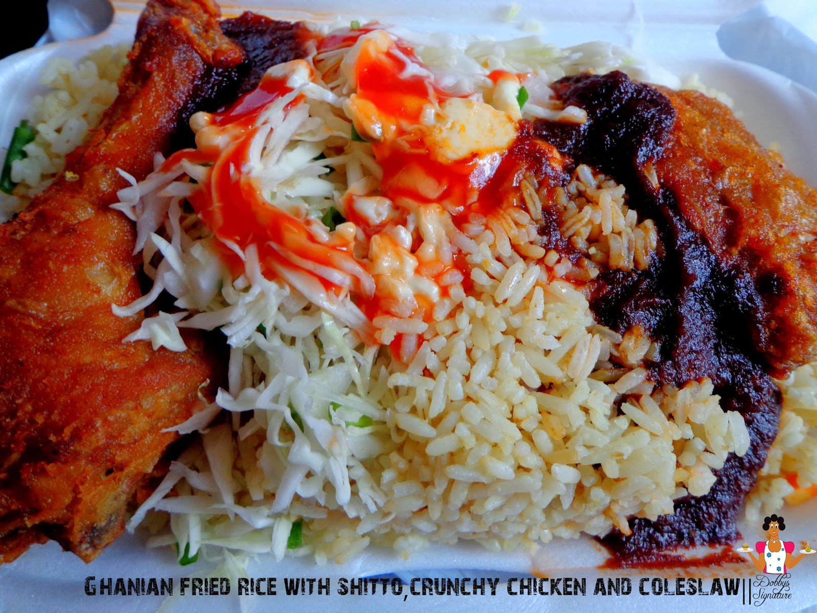 Dobbys signature nigerian food blog i nigerian food recipes i check check fried rice with shitto crunchy chicken coleslaw ccuart Gallery