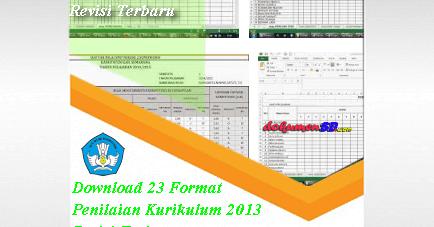 Download 23 Format Penilaian Kurikulum 2013 Revisi Terbaru