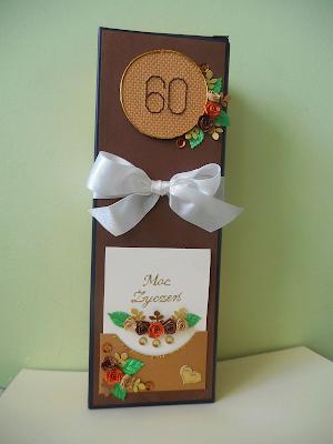 ozdobne pudełko na alkohol