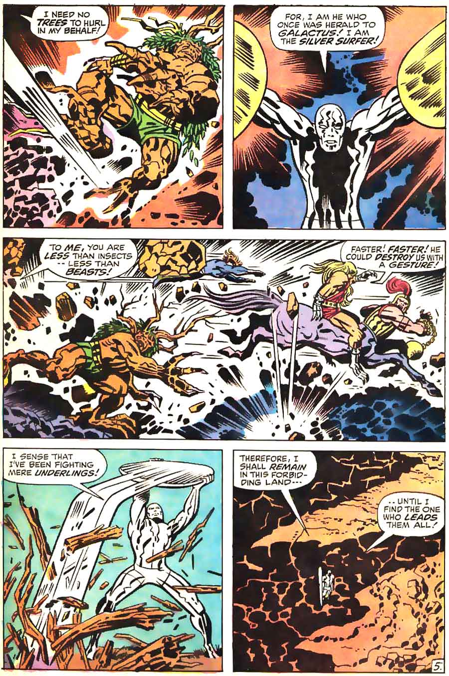 Silver Surfer v1 #18 marvel comic book page art by Jack Kirby