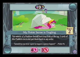 My Little Pony My Pinkie Sense is Tingling Premiere CCG Card
