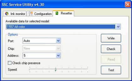SSCLG Service Utility Epson Printer