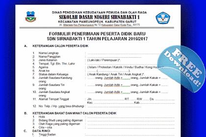 Contoh Formulir PSB ( Penerimaan Siswa Baru ) SD dan SMP Tahun 2016/2017 Sesuai Dapodik