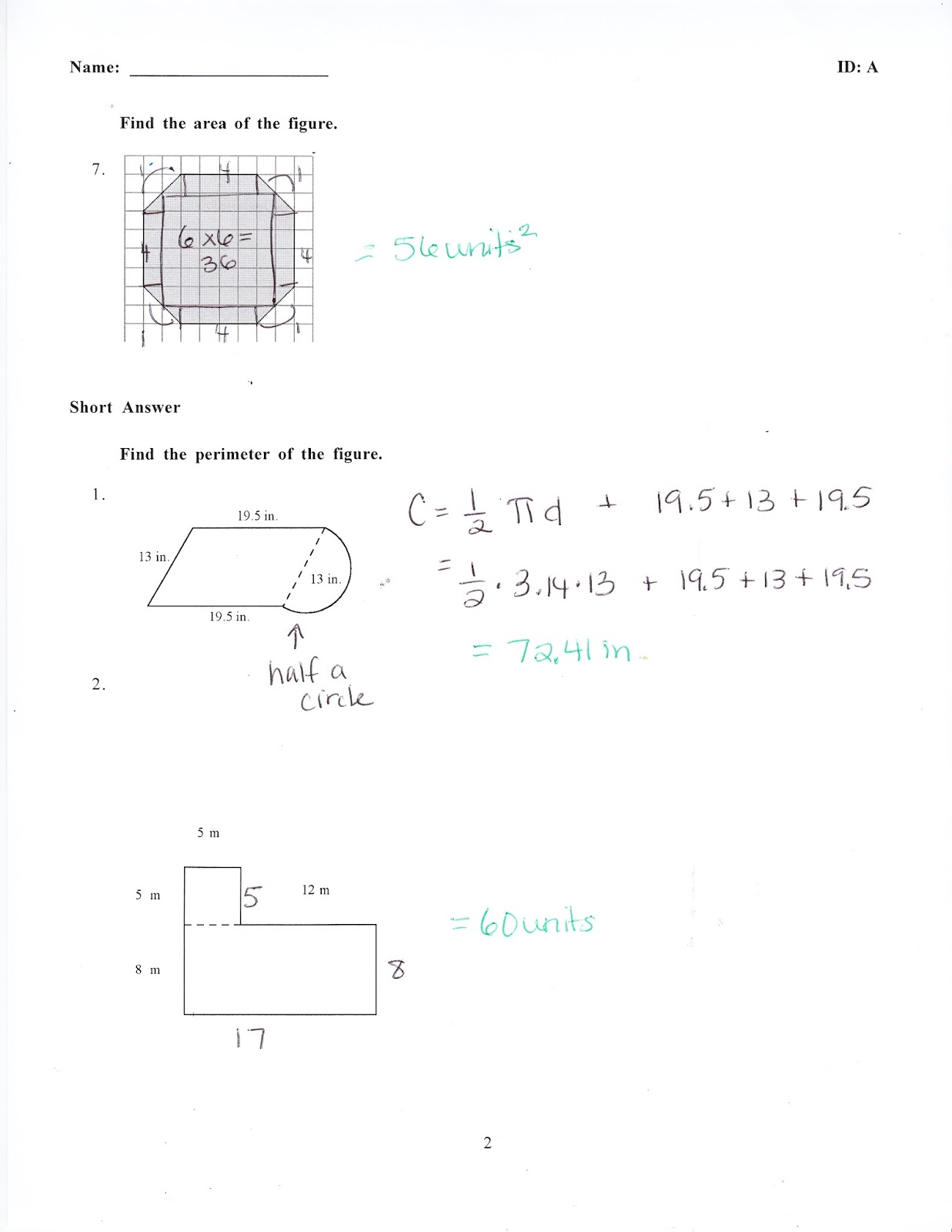 Ms  Jean's Classroom Blog: Math 7 Chapter 8 Practice Test Answers