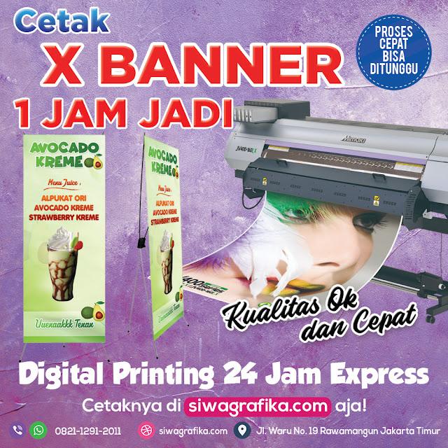 Cetak X Banner Online di Jakarta