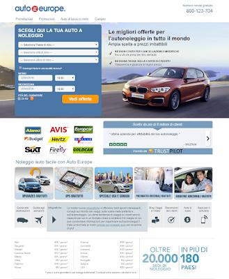AUTO EUROPE - Prenota un'auto in 135 paesi con più di 8.000 stazioni di noleggio nel mondo!!