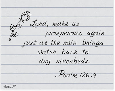 Lord, make us prosperous again,