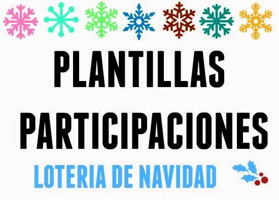 participaciones, Navidad, lotería, sorteo, plantillas, paint, técnicas