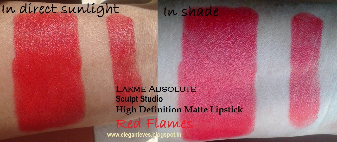 LAKME ABSOLUTE STUDIO SCULPT HIGH DEFINITION MATTE LIPSTICK: RED FLAMES
