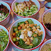 Healthy salad options at Balay Verde