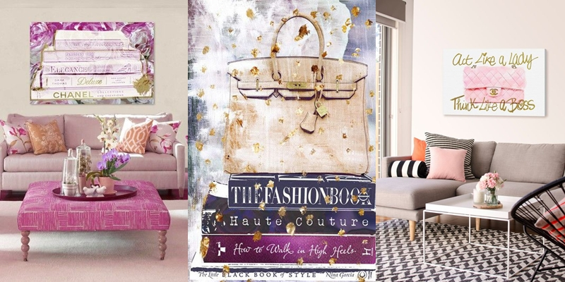 Best feminine fashion prints for wall.