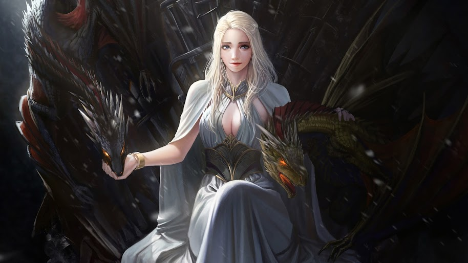 Targaryen Wallpaper Smartphone: Daenerys Targaryen, Dragon, Game Of Thrones, 4K, #44 Wallpaper