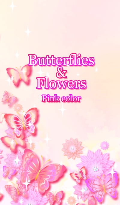 Butterflies&Flowers Pink color