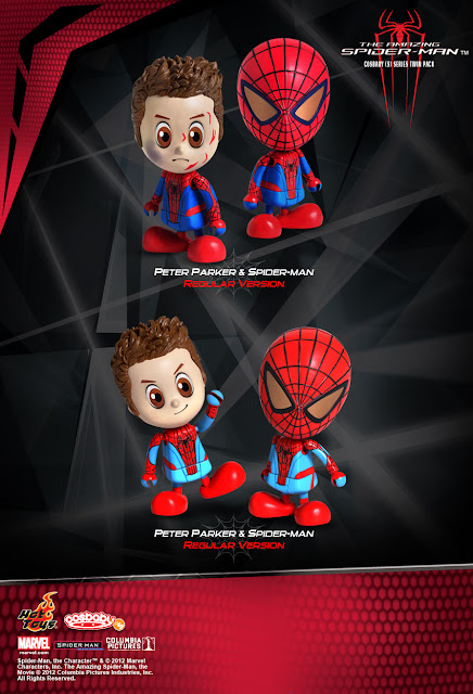 The Amazing Spider-Man Cosbaby 2-Pack by Hot Toys - Peter Parker & Spider-Man