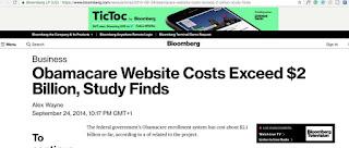 Obama website cost