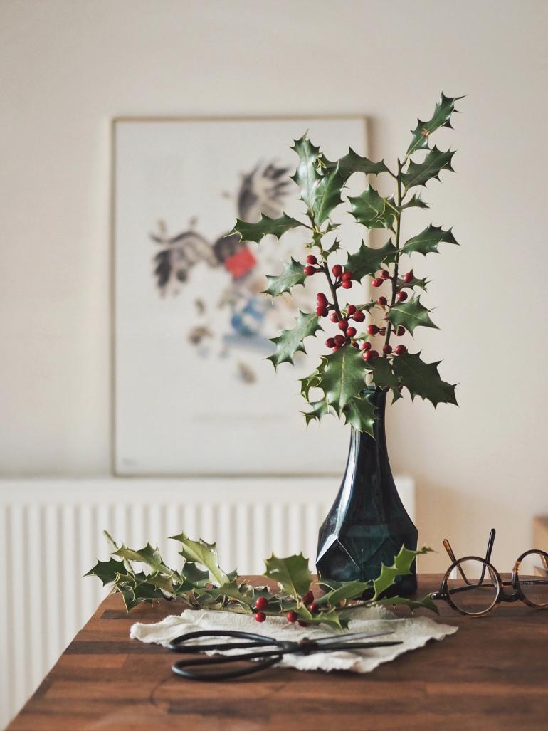 Bouquet de houx cueilli en Ardèche