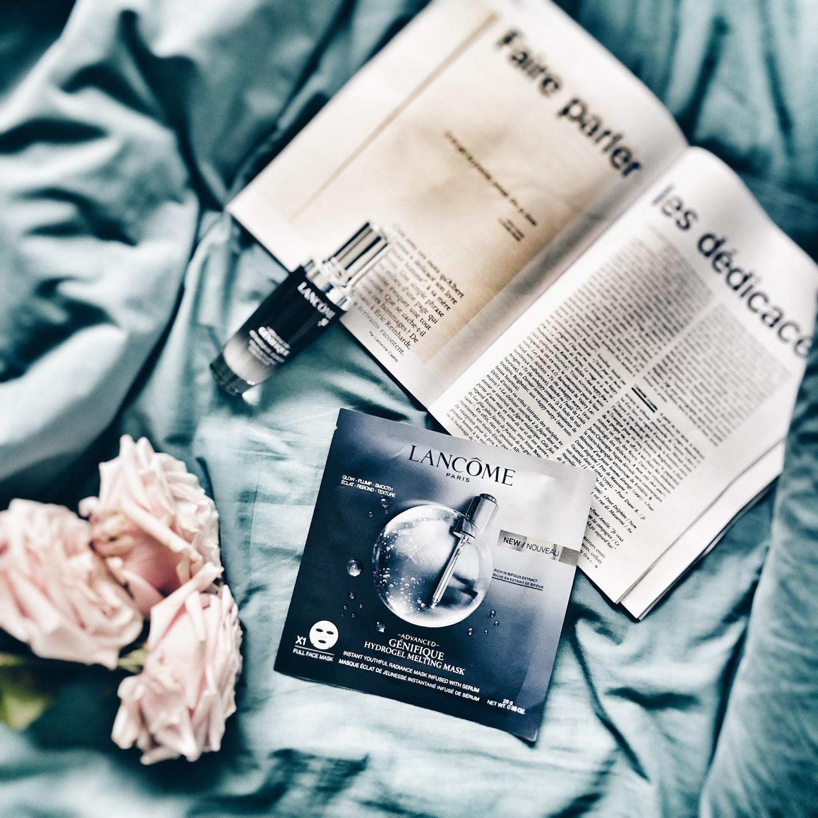 lancôme genifique hydro gel melting mask masque avis test