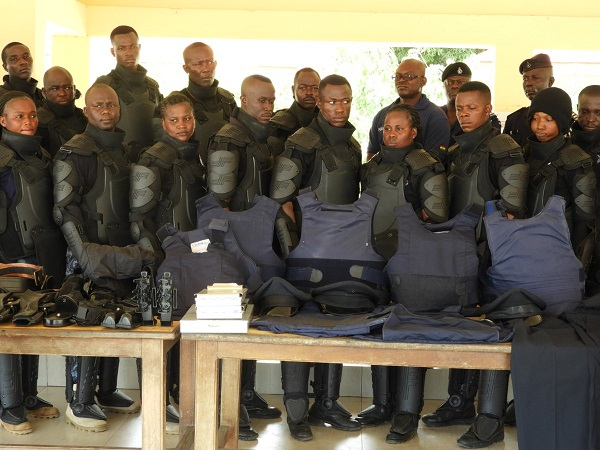 Ghana Police receive 23 bulletproof vests from American counterparts