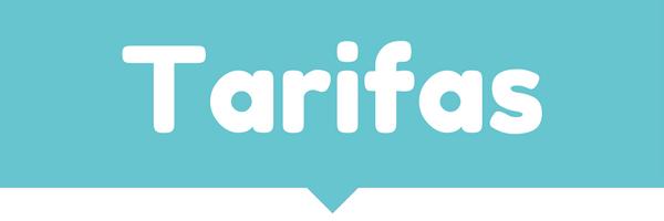 Cartel de página de tarifas