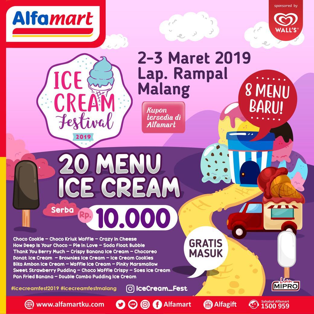 #Alfamart - #Promo Event Ice Cream Festival 2019 di Lap.Rampal Malang (02 - 03 Mar 2019)