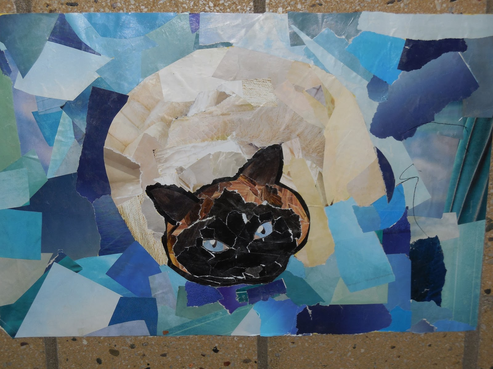 Adventures Of A Middle School Art Teacher 7th Grade Animal Collage