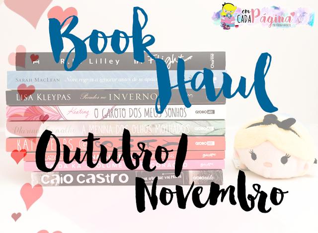 [Book Haul] Outubro/Novembro 2016