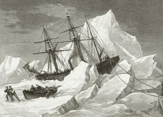 Los barcos atrapados en el hielo