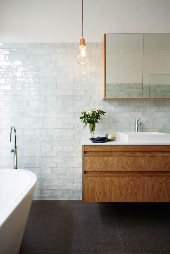 płytki strukturalne, łazienka, struktura na ścianie, cegły