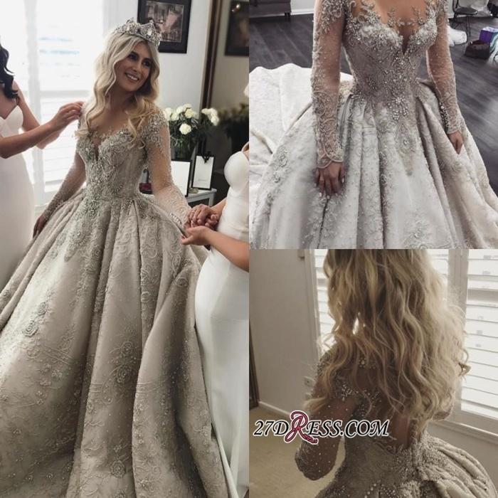 https://www.27dress.com/p/glamorous-long-sleeves-appliques-crystal-ball-gown-wedding-dress-109200.html
