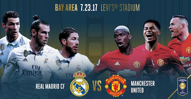 موعد وتوقيت مباراة ريال مدريد ومانشستر يونايتد الودية والقنوات المجانية الناقلة للمباراة مجاناً