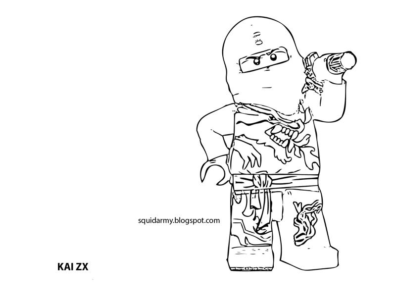 Lego ninjago coloring pages Squid