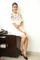Lavanya Tripathi in Summer Style Spicy Short White Dress at her Interview  Exclusive 107.JPG