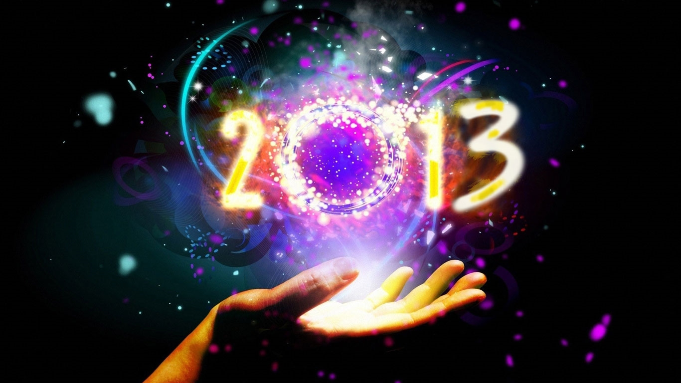 laptop and other mobile device happy new year 2013 happy new year 2013. 1366 x 768.Happy New Year Graphics Free Download