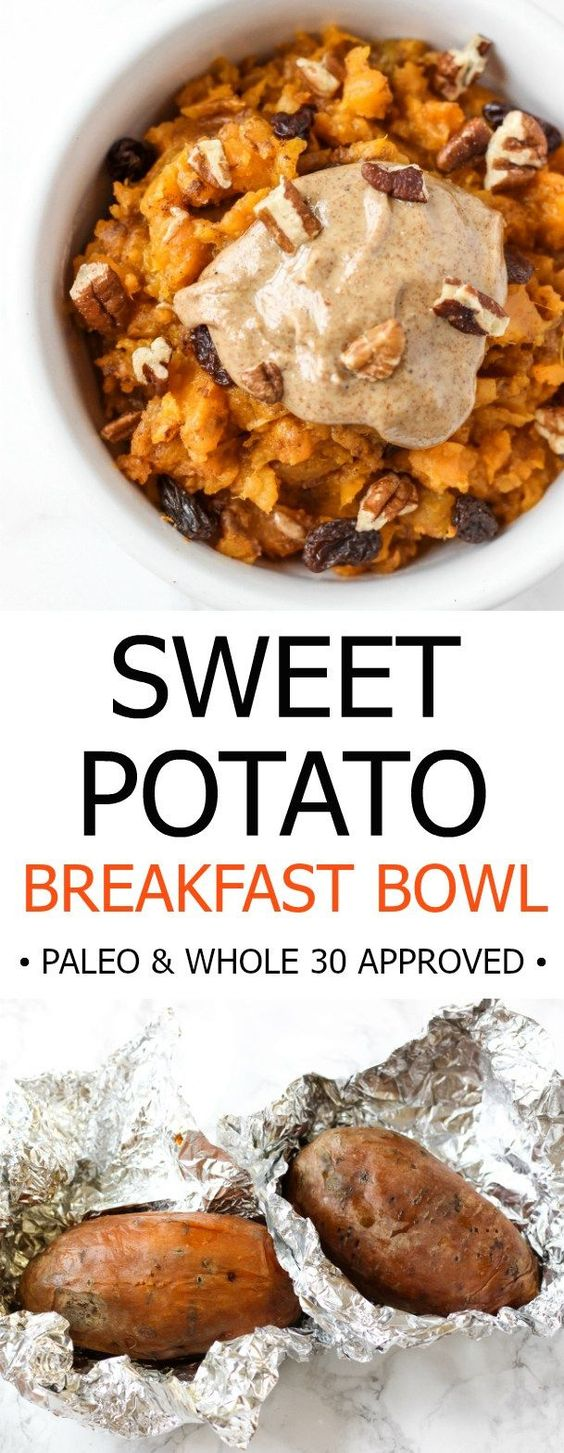 SWEET POTATO BREAKFAST BOWL #sweetpotato #potato #breakfast #breakfastrecipes #breakfastideas