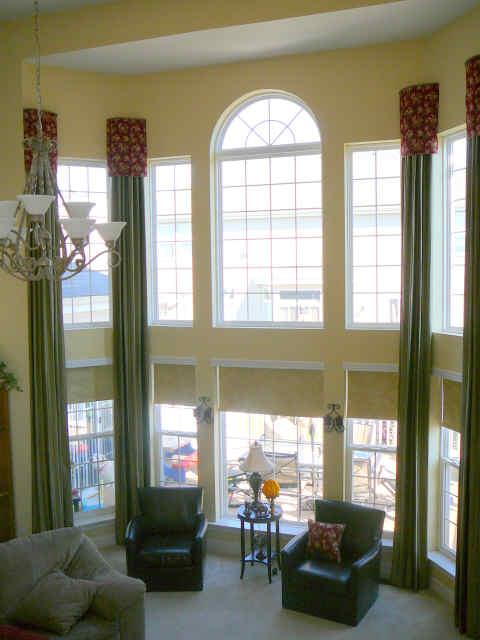 large window treatments 2017 - Grasscloth Wallpaper