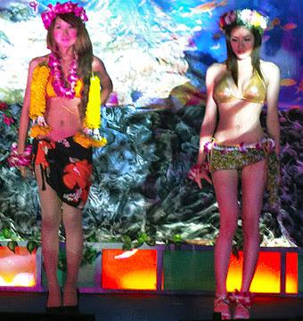 Phuket Town at night with girls