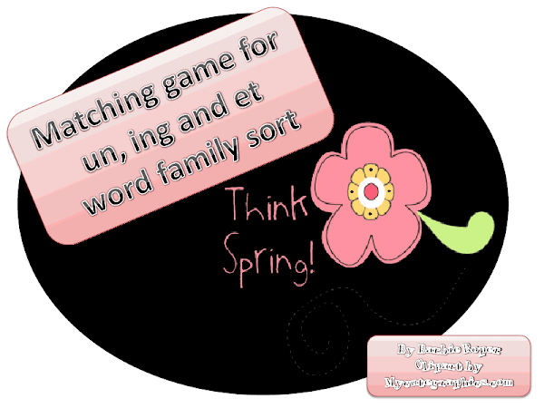 Spring Matching game for un, et, ing