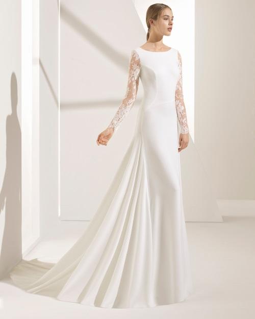 0852c9b7b Para las que han pensado para su boda en uno de los vestidos de novia Rosa  Clará Couture estilo sirena