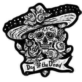 Dia de muertos para colorear | Dibujo del día de muertos