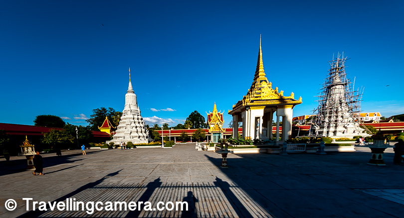 Apart from the Throne Hall, the Silver Pagoda, and the temple of the Emerald Buddha, there are smaller Stupas around that look a little random, considering their rebellion against the color scheme and scale.