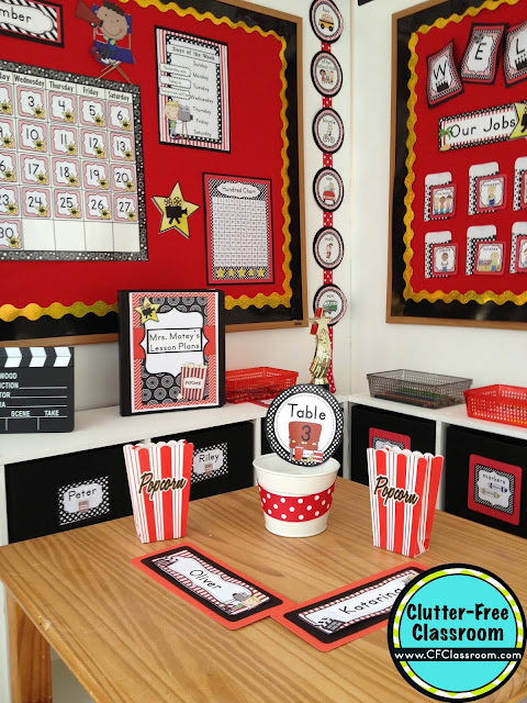 Classroom Decor Kit ~ Hollywood themed classroom ideas printable