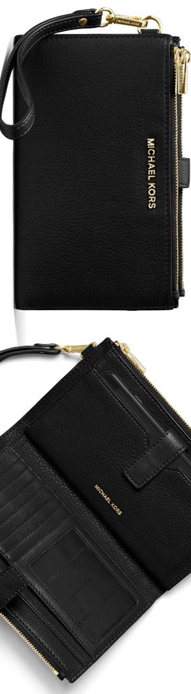 MICHAEL Michael Kors Adele Double-Zip Smartphone Wristlet Wallet